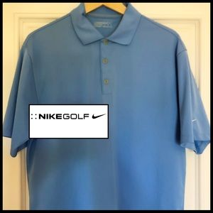 Nike Golf Dri Fit Polo in Beautiful Sky Blue. ⛳️